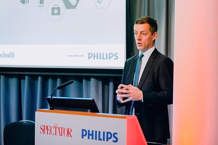 Lord O'Shaughnessy giving the keynote speech at The Spectator Health Summit (image: Anne Schwarz)