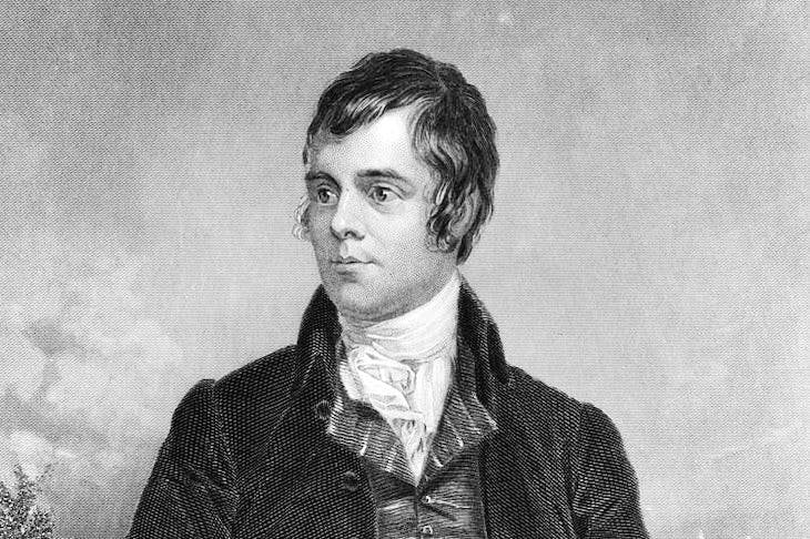 An etching of Robert Burns (Photo by Hulton Archive/Getty Images)
