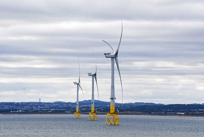 A general view of The European Offshore Wind Deployment Centre located in Aberdeen Bay on September 7, 2018 in Aberdeen, Scotland. [Photo: Jeff J Mitchell/Getty Images]