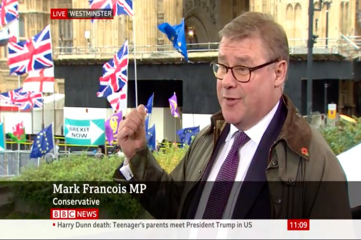 Watch: Mark Francois rebukes 'stop Brexit' protester | Coffee House